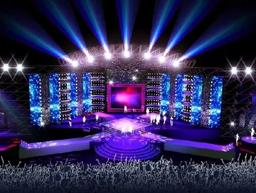 绚丽的灯光舞美文艺演出舞台现场布置设计、无忧的一站式服务策划!